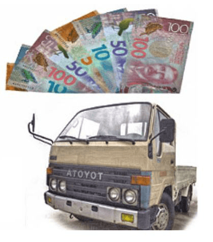 cash for scrap truck removal